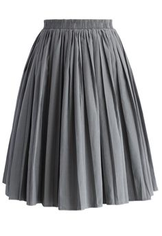 Accordion Pleated Skirt in Grey - Retro, Indie and Unique Fashion