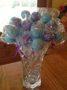 Cake pops in vase