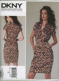 Donna Karan DKNY 1287 Vogue Sewing Pattern | Etsy