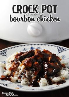 This Crock Pot Bourbon Chicken is easy and delicious... Truvia Brown Sugar and Cauliflower Rice