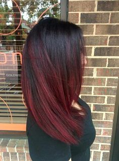 haar verven I think this might be quot;the onequot; Burgendy Hair, Red Ombre Hair, Hair Color Balayage, Hair Highlights, Red Balayage Hair Burgundy, Burgundy Highlights, Peekaboo Highlights, Violet Hair, Wine Hair