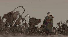 Mononoke Anime, Film Books, Asian Art, Supernatural, Moose Art, Concept Art, Wallpaper, Drawings, Illustration