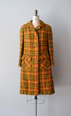 vintage 1960s Peas & Carrots coat    #plaid #vintagecoat #vintage #1960s