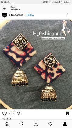 Silk Thread Earrings, Fabric Earrings, Thread Jewellery, Textile Jewelry, Fabric Jewelry, Diy Earrings, Leather Earrings, Earrings Handmade, Terracota Jewellery