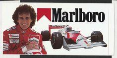 MARLBORO McLAREN TAG MP4/ 3 ALAIN PROST 1987 ORIGINAL PERIOD STICKER AUTOCOLLANT