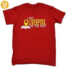 I Put ... On The Map Herren T-Shirt, Slogan Gr. Medium, Rot - Rot - Shirts mit spruch (*Partner-Link)