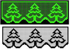 Cross-stitch trees border Source by Xmas Cross Stitch, Beaded Cross Stitch, Cross Stitch Borders, Crochet Cross, Cross Stitching, Cross Stitch Patterns, Filet Crochet Charts, Crochet Borders, Knitting Charts