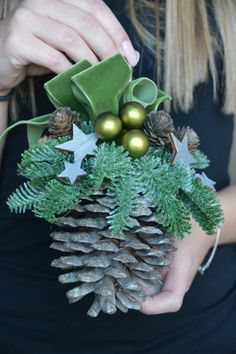 Christmas is a special time... Let the decorations create a magical Christmas spirit in your house...   This listing is for PRE-ORDER Large Pine Cone Christmas Ornament   ORDERS BEING TAKEN UNTIL 20TH NOVEMBER AND DELIVERY WILL BE AVAILABLE NOT EARLIER THEN IN WEEK BEGINNING 5TH OF DECEMBER. When you place your order please email me when you want your cone delivered!  It will be made the day it gets posted to ensure it arrives fresh.  This arrangement will look great wherever you hang it…