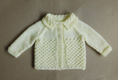 Danika means Morning Star (this design uses a version of star stitch) Danika Baby Jacket ~ with a Collar Danika Baby Jacket ~ without a Collar Danika Baby Jacket Requirements ~ DK yarn Source by lynleyharlen Jacket Baby Cardigan Knitting Pattern Free, Baby Sweater Patterns, Knit Baby Sweaters, Baby Hats Knitting, Easy Knitting, Baby Knitting Patterns, Baby Patterns, Baby Knits, Crochet Patterns