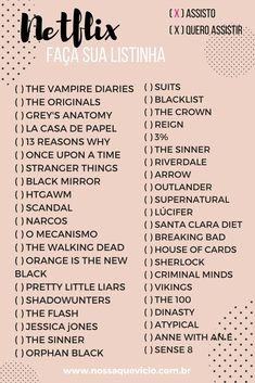 movies to watch List to organize TV series - watched / want to watch