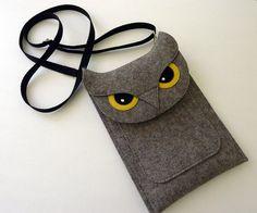 felt owl case