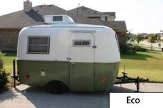 Eco. Small Fiberglass trailer model, Canadian boler replica.