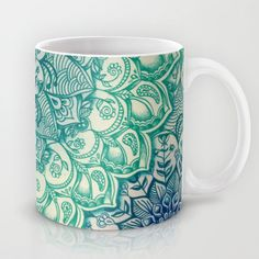 Buy Emerald Doodle by Micklyn as a high quality Mug. Worldwide shipping available at Society6.com. Just one of millions of products available.