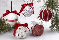 Styrofoam ornaments. Get an overview of the process of how to make them in a quick, five minute video