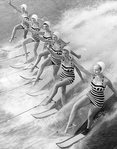 I decided that I have always wanted to be on a synchronized water skiing team when I saw this photo.