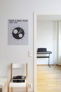 Have a Nice Year is a minimalist design created by Finland-based designer Cool Enough Studio. A calendar that is not just checking a date, representing the flow of yearly movement. Minimalist Design, Interior Design, Studio, Cool Stuff, Architecture, Nice, Inspiration, Calendar, Home Decor