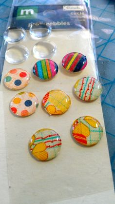 DIY epoxy dots : one of those little things that seems obvious once you've done it!