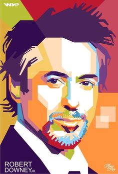 ROBERT DOWNEY JR. in WPAP | For order, contact to: gilangbogy@gmail.com