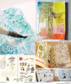 A wonderful collection made by Ivy Newport of Grace and Ivy. Lots of inspiration for mixed media art. Love it!