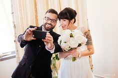 Ceremony selfie - small wedding at Creativo Loft in Chicago