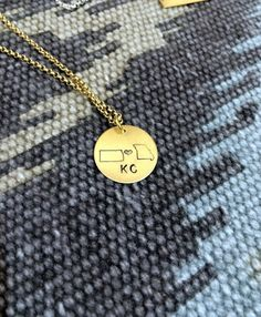 Kansas City Love Necklace | State of KS and MO Pride Necklace