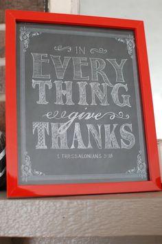 free printable :: Give Thanks