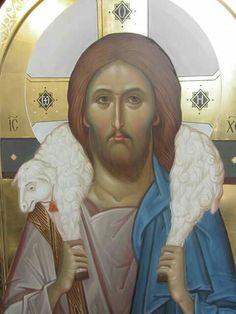 Byzantine Icons, Byzantine Art, Religious Icons, Religious Art, Jesus Lives, Jesus Christ, Christ The Good Shepherd, Papa Francisco Frases, Famous Freemasons