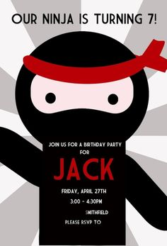 I like this graphic. Must search link for Ninja party.