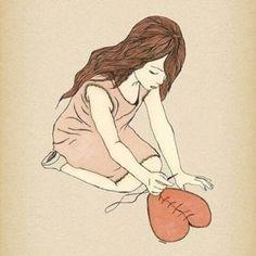 Art And Illustration, Illustrations Posters, Illustration Fashion, Mending A Broken Heart, Broken Heart Art, Broken Heart Drawings, Shattered Heart, Pics Art, Art Photography