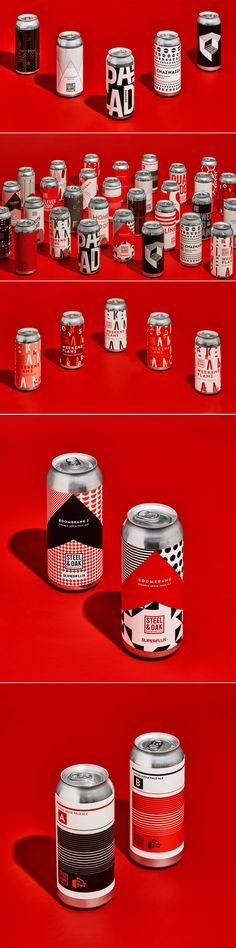 These Bold Beer Cans Are Black, White, and Red All Over | Dieline