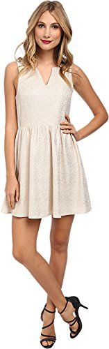 Brigitte Bailey Womens Emilia Fit  Flare Twinkle Dress CreamGold Dress SM *** Check out this great product. (This is an affiliate link and I receive a commission for the sales)