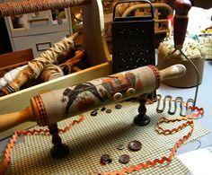Becky Bees Stitching Hive: rolling pin finish