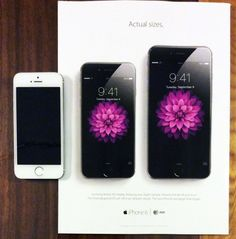Apple debuts new iPhone 6 print ads featuring actual-size images of the phones New Iphone 6, Apple Iphone, All Iphones, Apple Prints, Black And White Flowers, Apple Mac, Creative Advertising, Phone Photography, Apple News