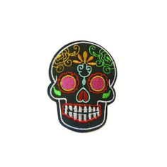 Black Sugar Skull Patch - £2 each or any 3 patches for £5! - extremelargeness.com