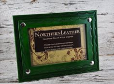 Mariner Blue 4x6 Leather Photo Frame by Northernleather on Etsy, $44.95