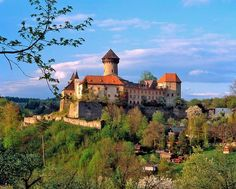 is a beautiful castle residing on a cone-shaped hill in Castle Ruins, Medieval Castle, Beautiful Castles, Beautiful Places, Prague, Places To Travel, Places To See, Castle Pictures, Europe Photos