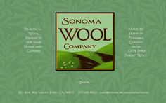 Sonoma Wool Products