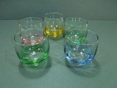 Libbey verrerie  verres colorés de  verres de roly par GUTTERSNIPES