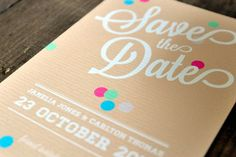 Vintage Confetti Save The Date Cards - Feel Good Wedding Invitations