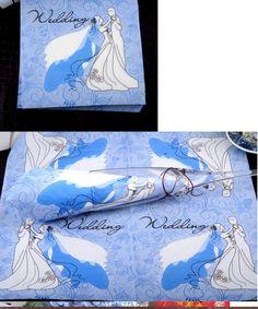 Serwetki ślubne ślub wesele papierowe wedding papernapkin niebieskie blue