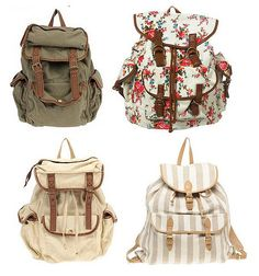 really want a cute backpack instead of a purse this year. The strip one is pretty!