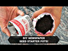 How to Make Newspaper Pots! - YouTube