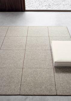 Felt - Quadri Rug from DEDECE  Felted rug option for bedroom