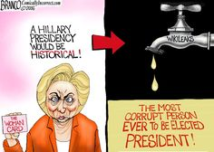 Hillary makes history in more ways than just one. She'll be the most corrupt person to ever be elected president ...  #Hillary for Prison ...