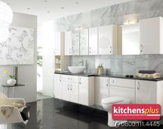 Everything from bathtubs, basins, shower units and toilets to high quality flooring and tiles, our team will help you design and create a stunning bespoke bathroom space that perfectly matches your personality and the style of your home. Call 08001114445 today. See more at https://www.kitchensplusltd.co.uk