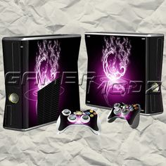Pink Spark XBOX 360 Skin Set - Console with 2 Controllers