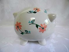 Personalized piggy banks hand painted piggy banksbirds and