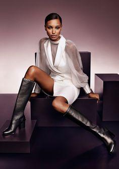 JIMMY CHOO 20th Anniversary Autumn Winter 2016 Campaign / Jasmine Tookes wears the MONROE boots