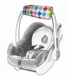 Jede Mami kennt das Problem, das die Babyschale zu schwer ist und schmerzt beim tragen. Jetzt gibt es Abhilfe, mit diesem Armpolster gibt es keine schmerzenden Arme mehr.  Offen kann man es auch...