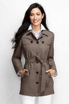 ff6fc4e03d1 Women s Harbor Cropped Trench Coat from Lands  End Winter Vest